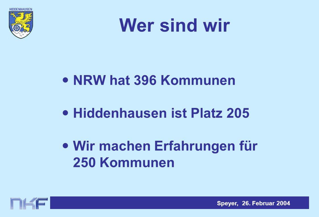HIDDENHAUSEN Speyer, 26.Februar 2004 Eröffnungsbilanz - Passivseite - 1.Eigenkapital95 Mio.