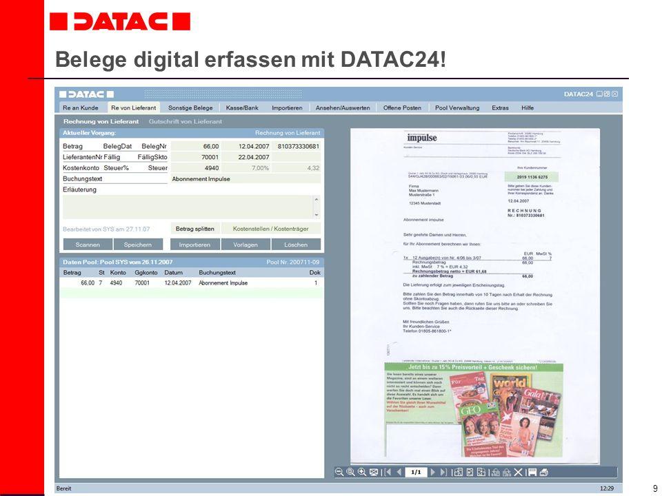20 Daten werden sofort an den Mandanten zurückgeschickt! Mandant Buchhalter