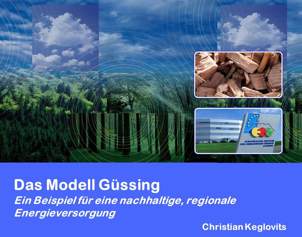 Das Modell Güssing Ein Beispiel für eine nachhaltige, regionale Energieversorgung Christian Keglovits