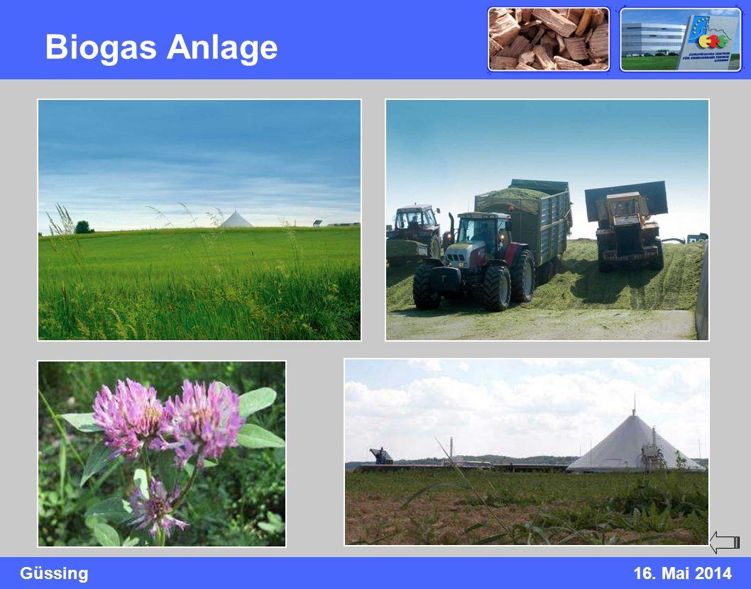 Güssing16. Mai 2014 Biogas Anlage