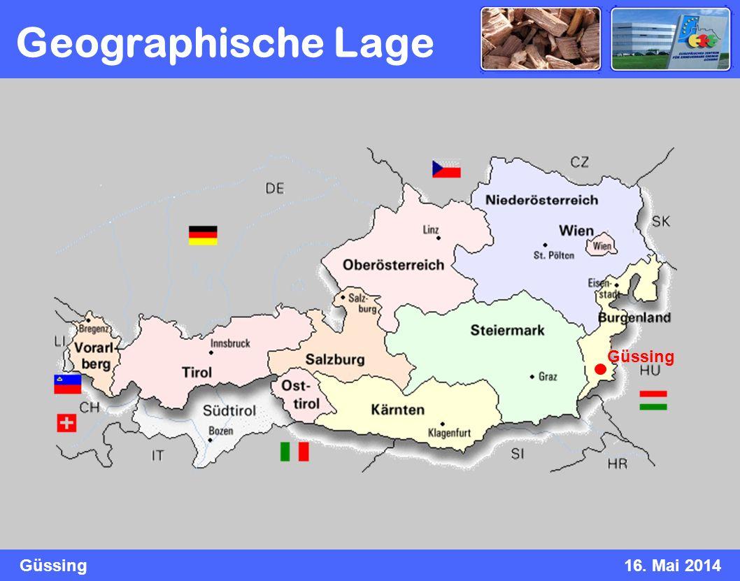 Güssing16. Mai 2014 Geographische Lage Güssing