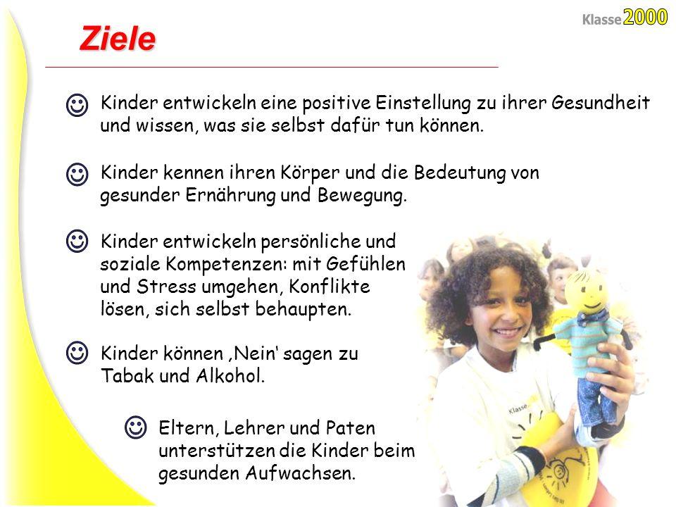 Folie 2 Ziele Kinder entwickeln eine positive Einstellung zu ihrer Gesundheit und wissen, was sie selbst dafür tun können. Kinder kennen ihren Körper