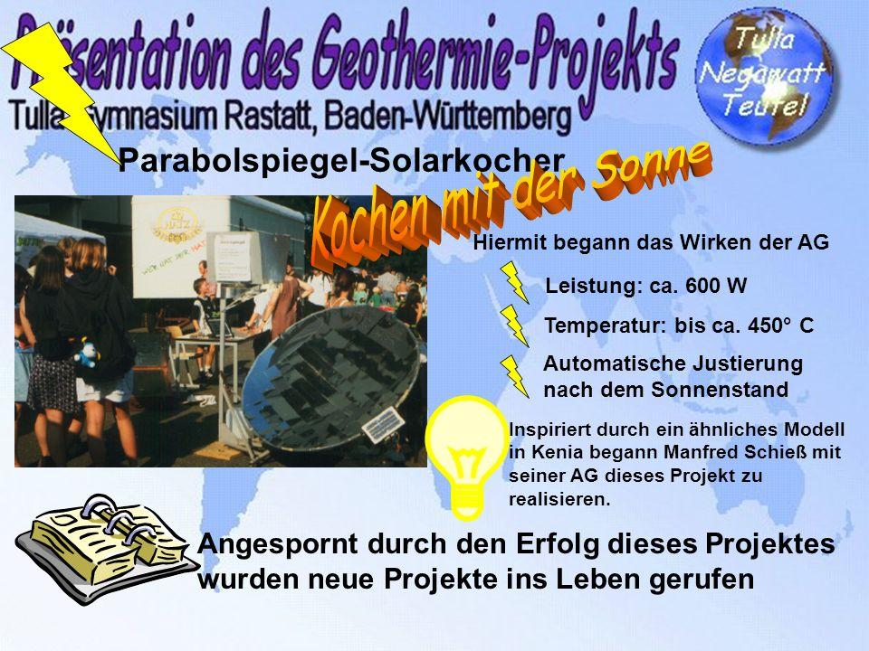 Klimafreundliche und energiesparende Schule Innerhalb von 2 Jahren: Energieeinsparung von 20 % Damals bekamen wir noch 100% für Einsparungen von der Stadt Rastatt ausbezahlt, heute sind es noch 50 %.