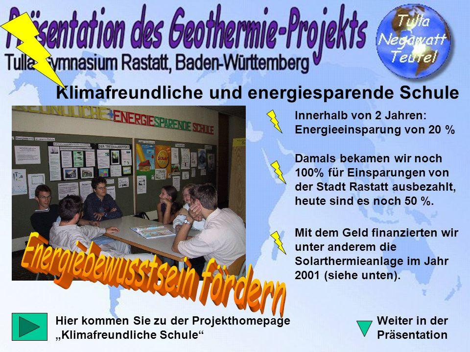 Bau einer Fotovoltaikanlage Gesponsort von: Sparkasse Rastatt-Gernsbach Bauknecht DaimlerChrysler