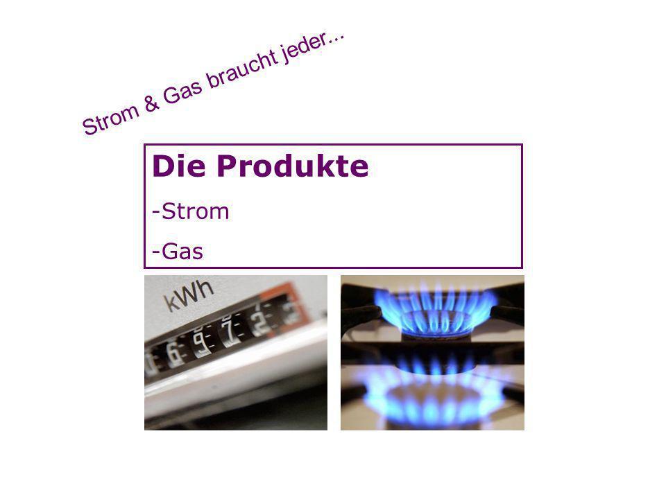 Die Produkte -Strom -Gas Strom & Gas braucht jeder...