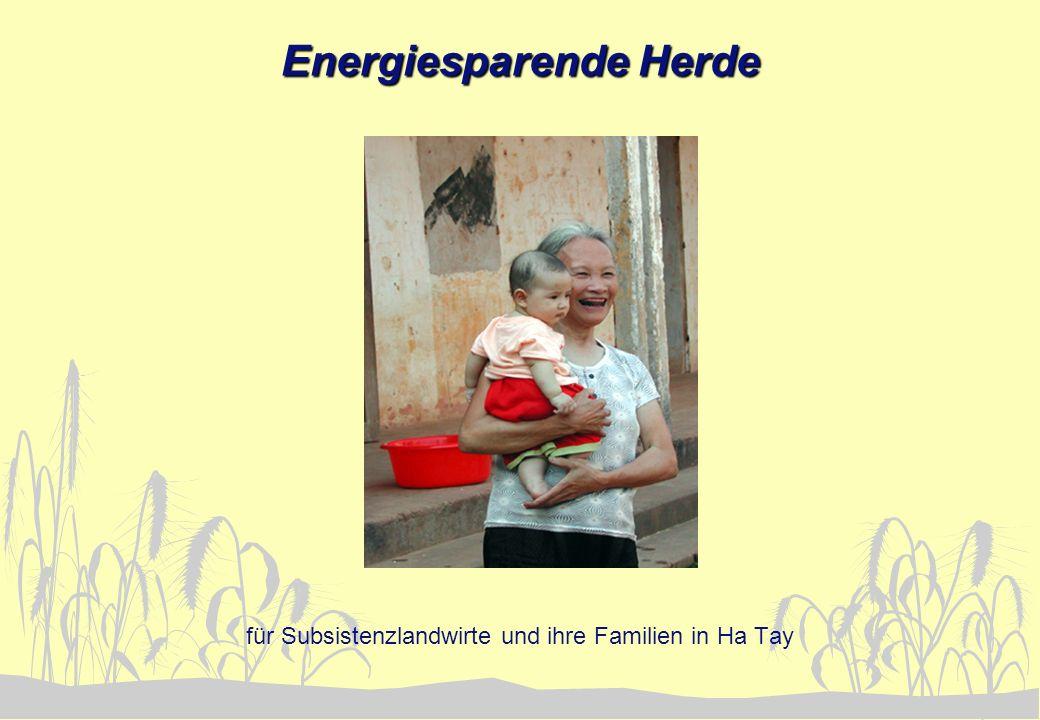 Energiesparende Herde für Subsistenzlandwirte und ihre Familien in Ha Tay