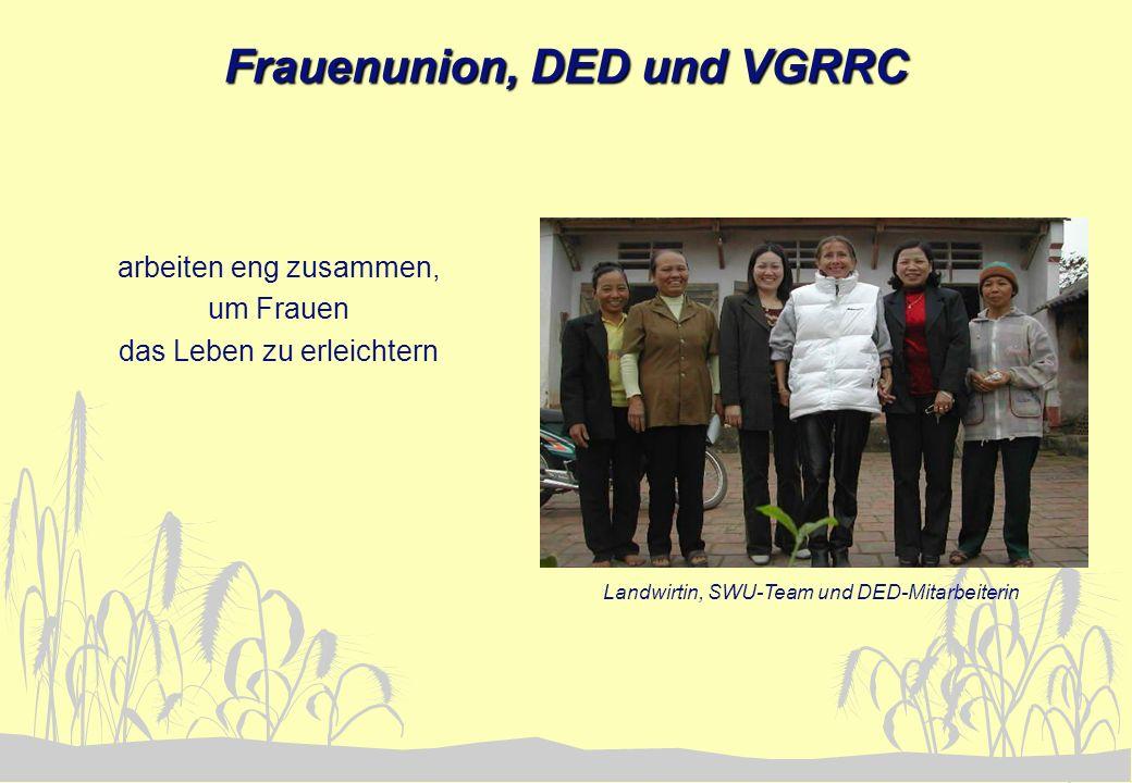 Frauenunion, DED und VGRRC arbeiten eng zusammen, um Frauen das Leben zu erleichtern Landwirtin, SWU-Team und DED-Mitarbeiterin