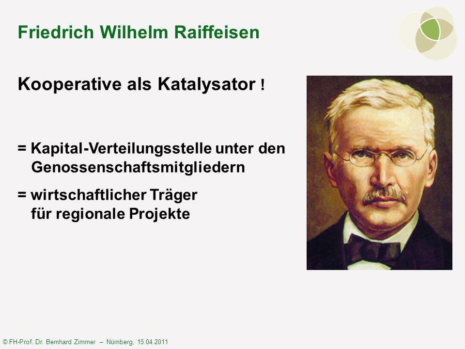 © FH-Prof. Dr. Bernhard Zimmer – Nürnberg, 15.04.2011 Kooperative als Katalysator .