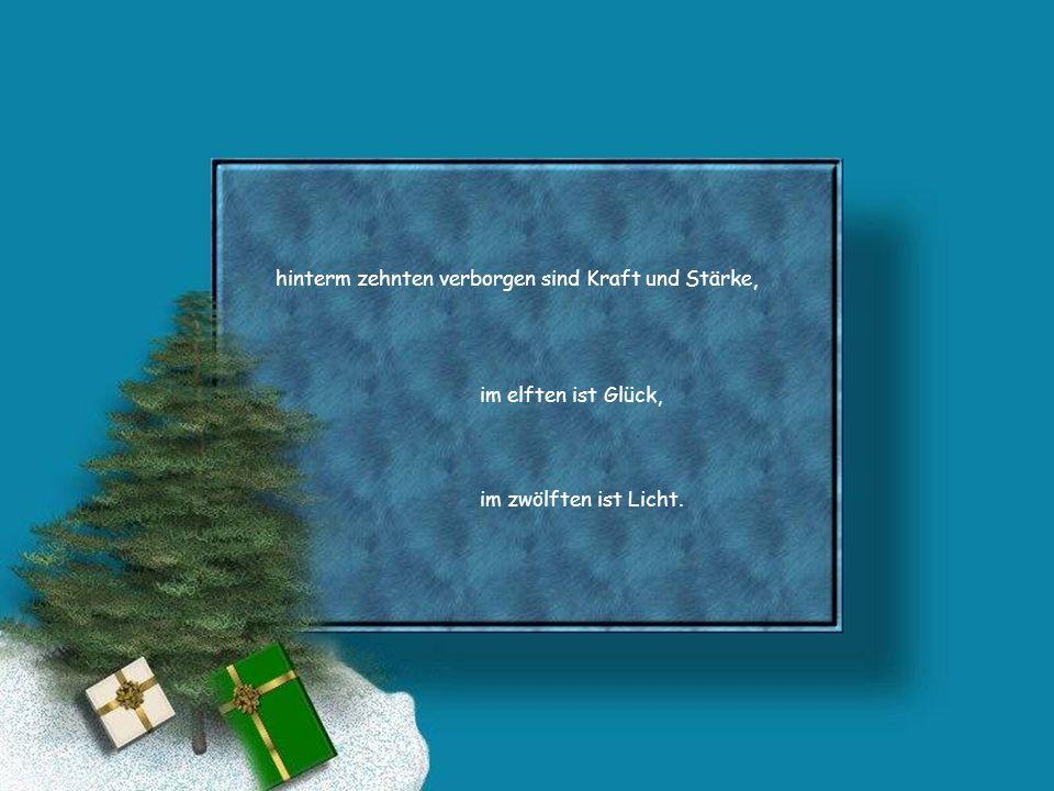 Hinter dem Türchen am Heiligen Abend sind keine Geschenke.