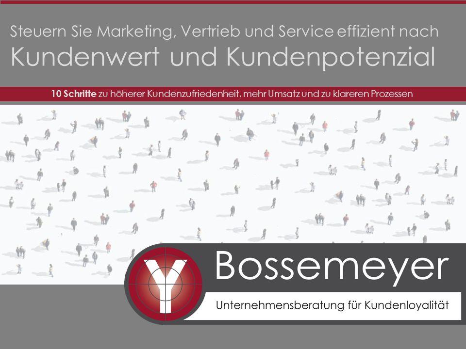 Steuern Sie Marketing, Vertrieb und Service effizient nach Kundenwert und Kundenpotenzial 10 Schritte zu höherer Kundenzufriedenheit, mehr Umsatz und