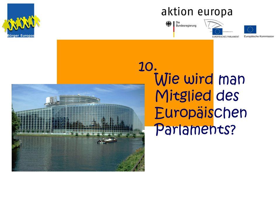Wie wird man Mitglied des Europäischen Parlaments? 10.