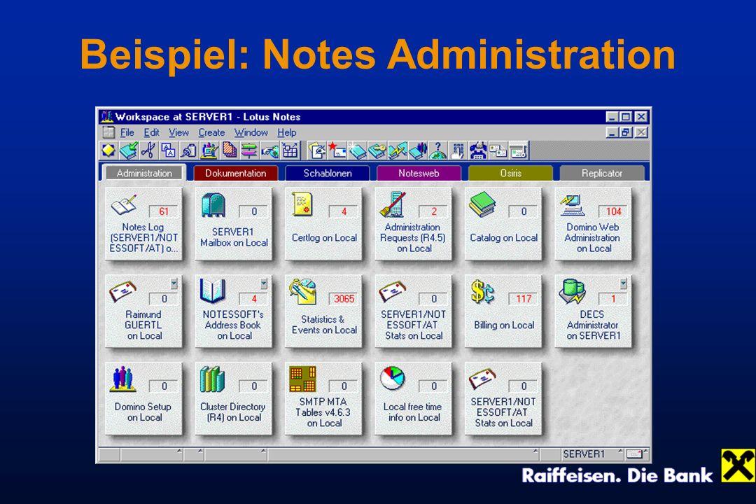 Beispiel: Notes Administration