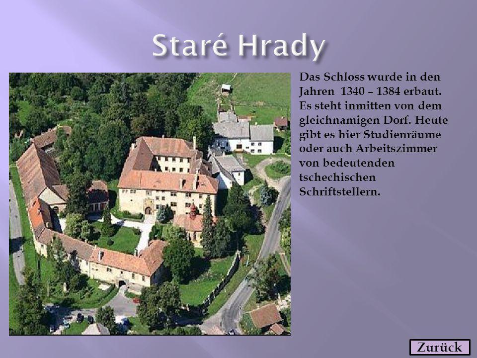 Das Schloss wurde in den Jahren 1340 – 1384 erbaut. Es steht inmitten von dem gleichnamigen Dorf. Heute gibt es hier Studienräume oder auch Arbeitszim