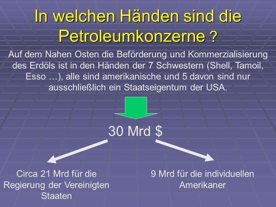 In welchen Händen sind die Petroleumkonzerne .