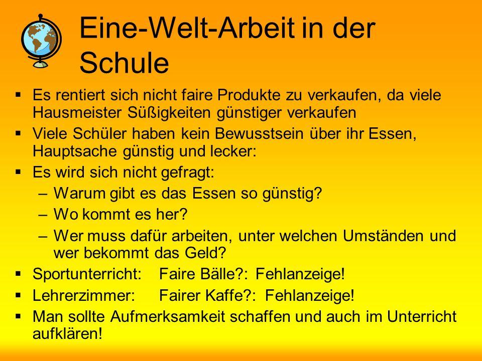 Eine-Welt-Arbeit in der Kirche & Öffentlichkeit Der Kaffee im Gemeindehaus ist kein fairer Kaffee!!.