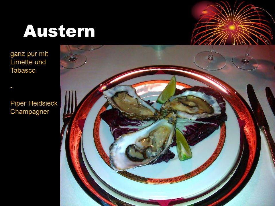 Austern ganz pur mit Limette und Tabasco - Piper Heidsieck Champagner