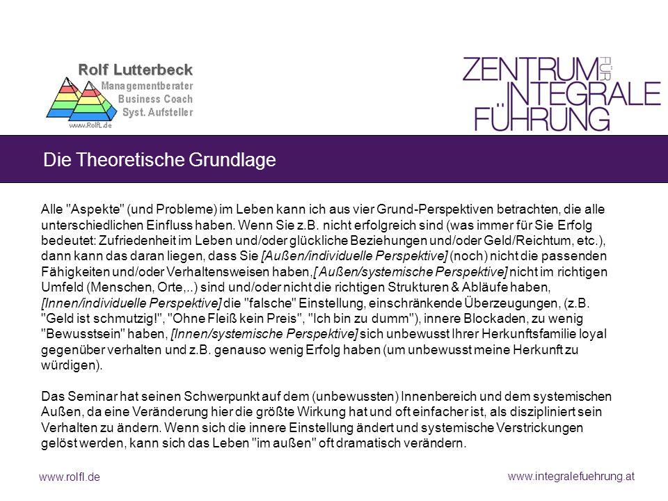 www.rolfl.de www.integralefuehrung.at Die Theoretische Grundlage Alle