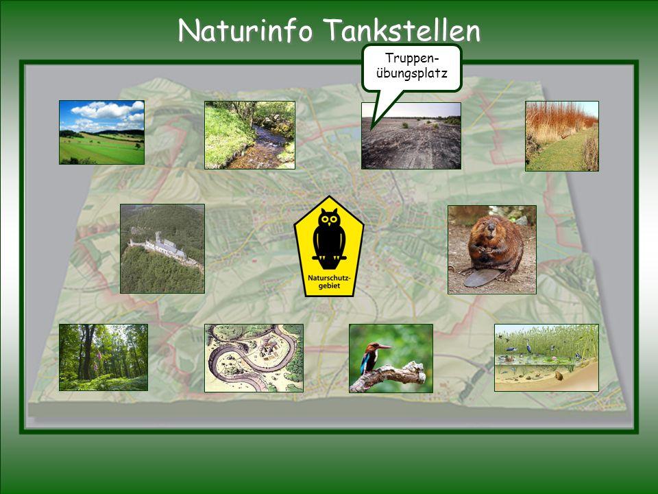 Truppen- übungsplatz Naturinfo Tankstellen