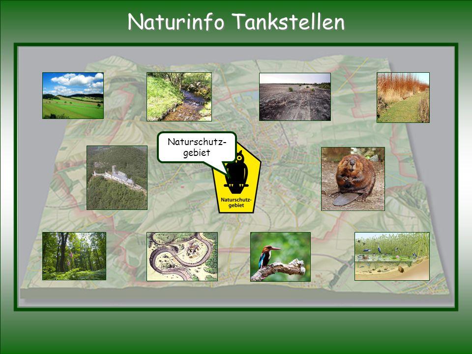 Naturschutz- gebiet Naturinfo Tankstellen