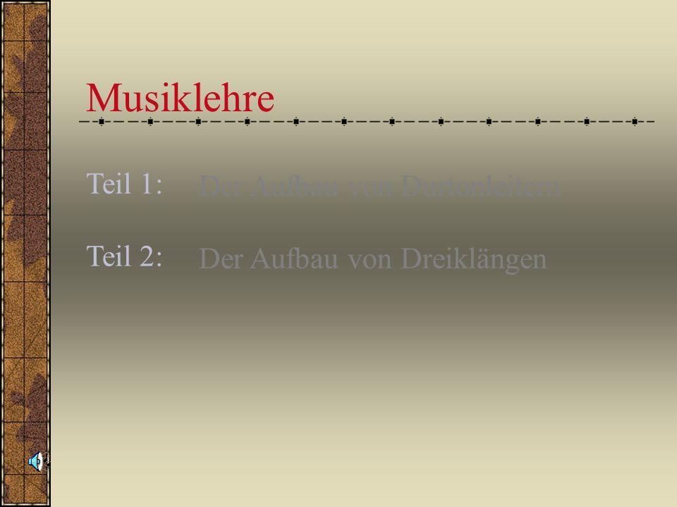 Musiklehre Der Aufbau von Durtonleitern Der Aufbau von Dreiklängen Teil 1: Teil 2: