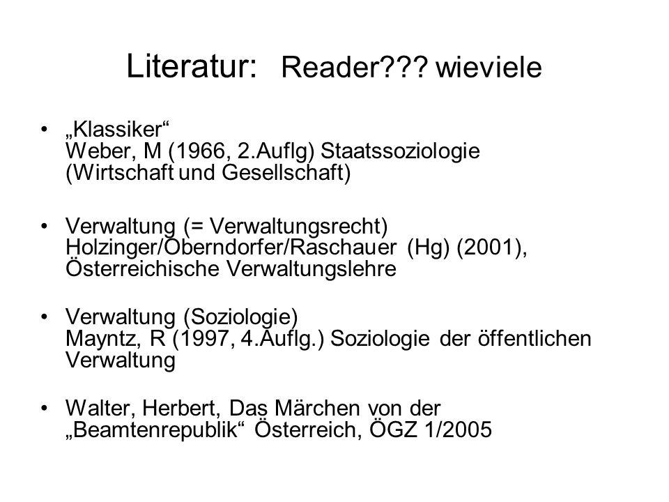Literatur: Reader .