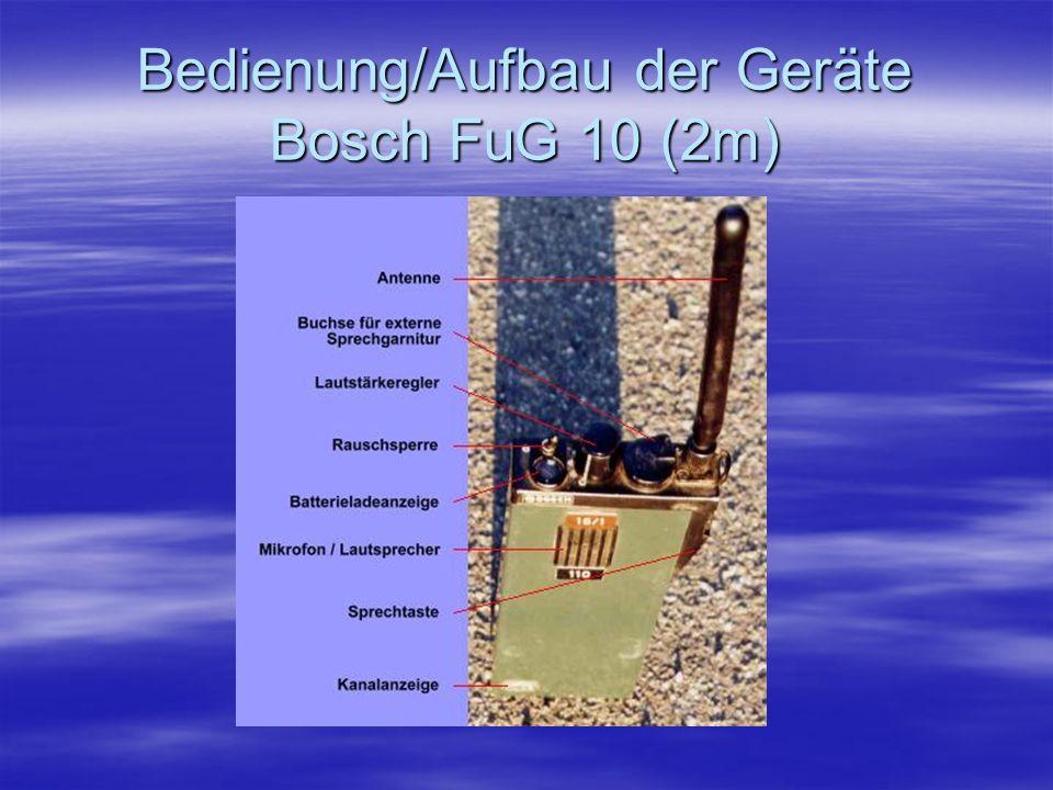 Bedienung/Aufbau der Geräte Bosch FuG 10 (2m)