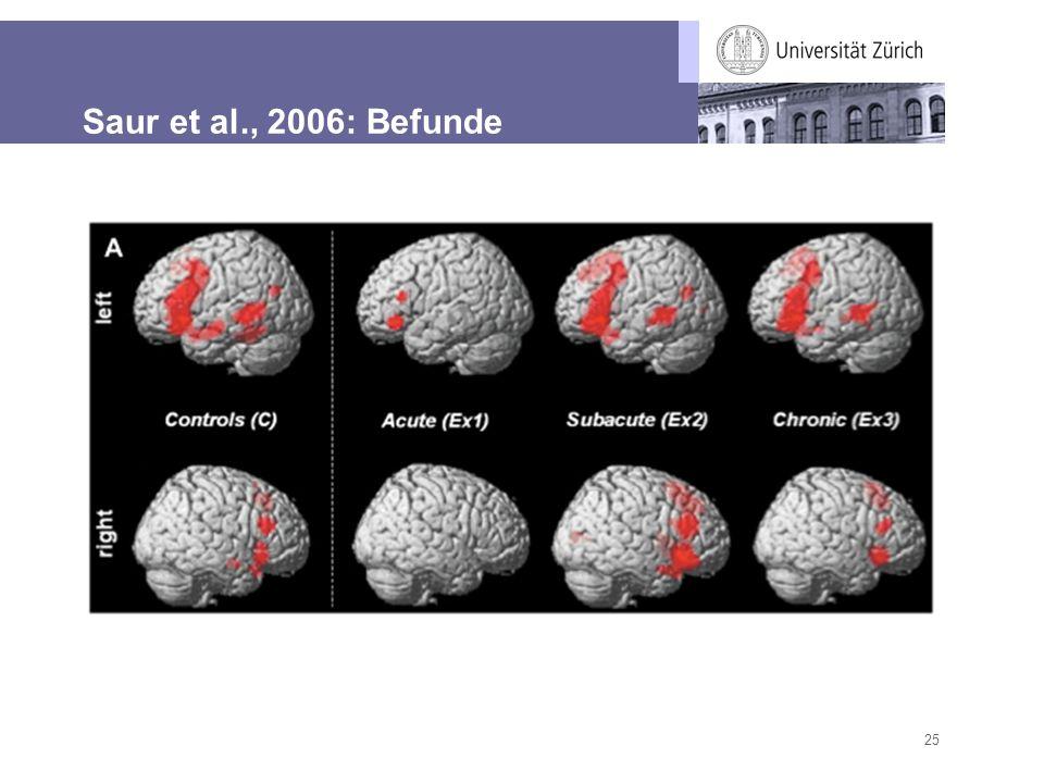 25 Saur et al., 2006: Befunde