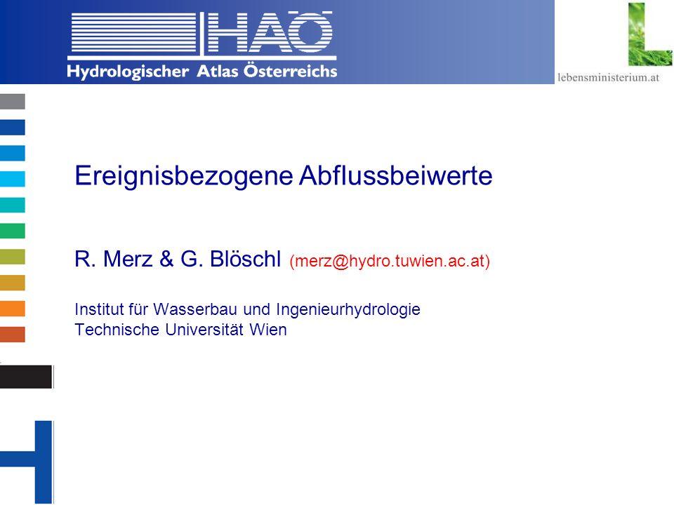 Copyright, 2002 © Josef Fürst Ereignisbezogene Abflussbeiwerte R.