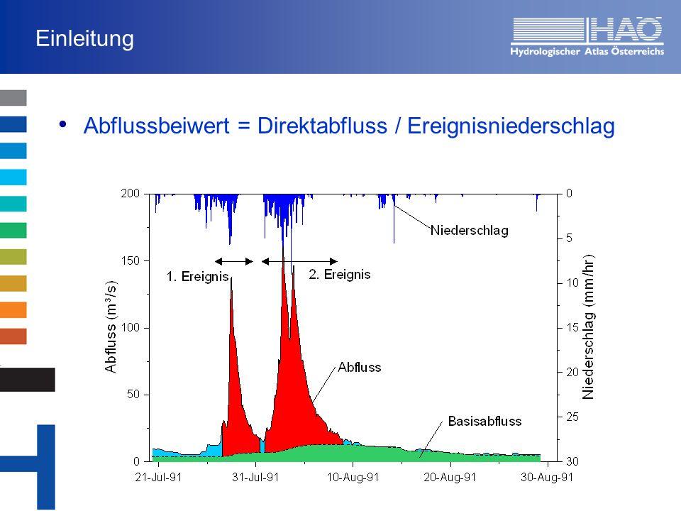Regionale Auswertung von Abflussereignissen Ermittlung der Gebietsniederschläge (Stundenwerte) 143 Ombrographen (stündl.