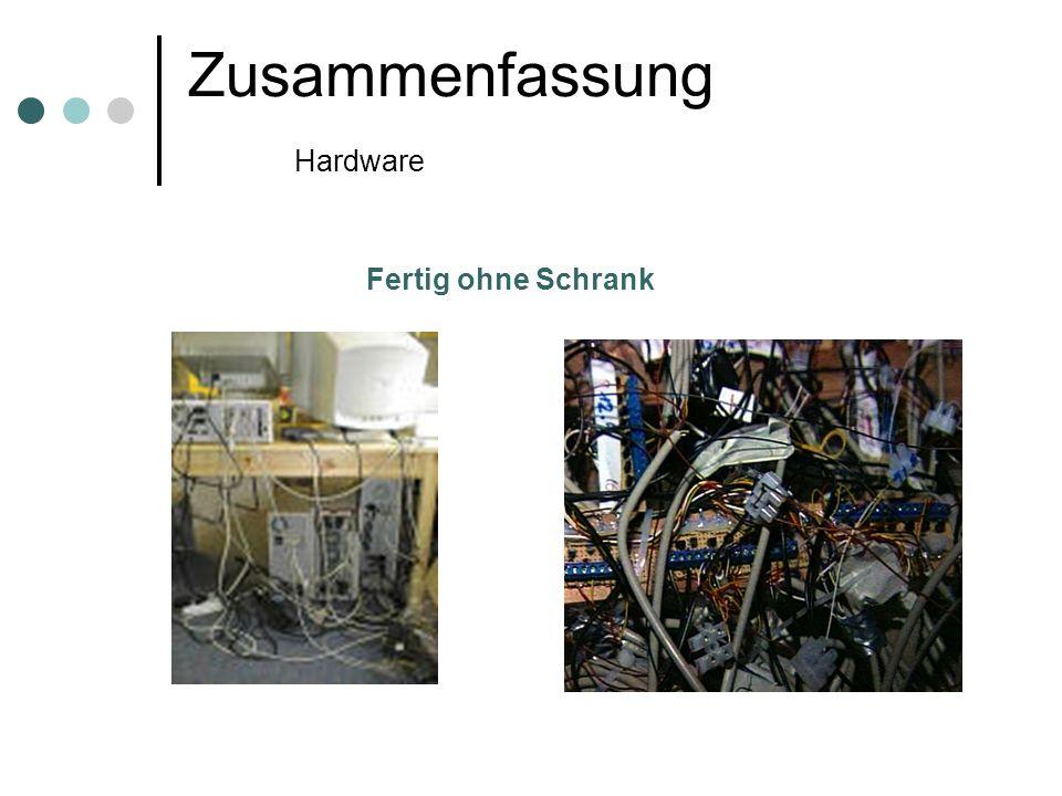 Zusammenfassung Hardware Fertig ohne Schrank