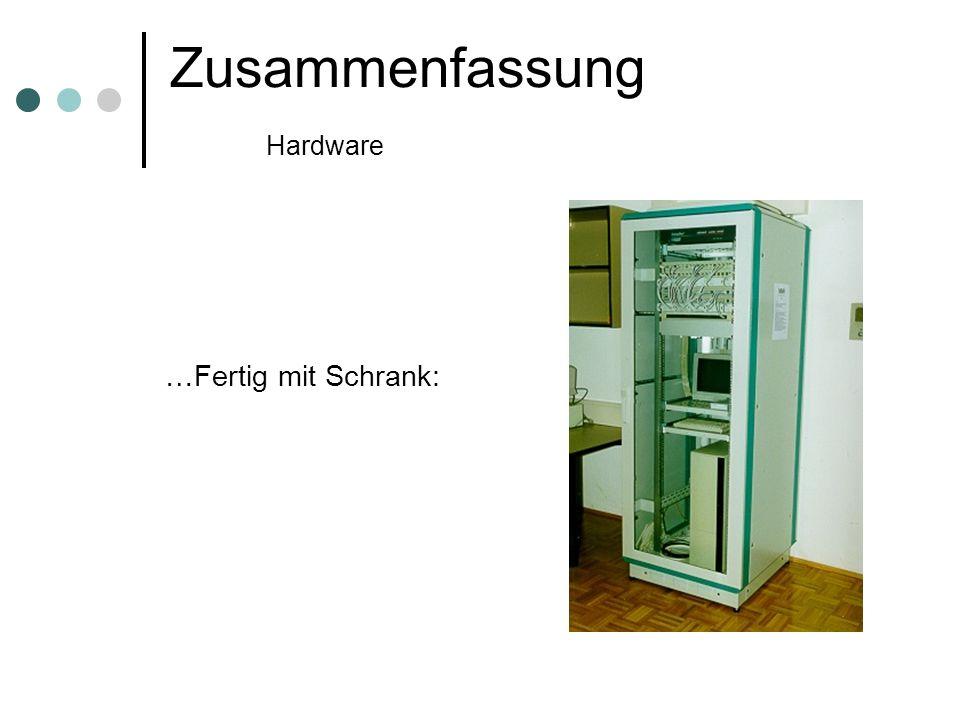 Zusammenfassung Hardware …Fertig mit Schrank: