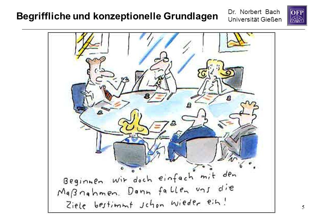 Dr. Norbert Bach Universität Gießen 5 Begriffliche und konzeptionelle Grundlagen