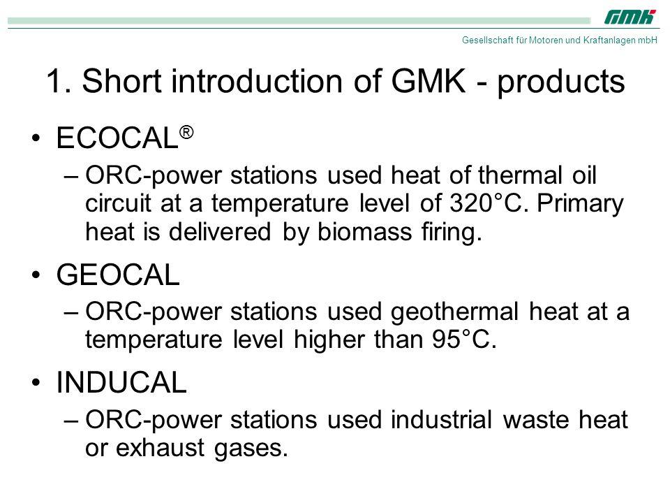 Gesellschaft für Motoren und Kraftanlagen mbH 2. Clausius rankine process