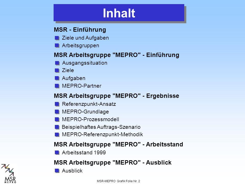 MSR-MEPRO Grafik Folie Nr. 2 Referenzpunkt-Ansatz Ziele und Aufgaben MSR Arbeitsgruppe
