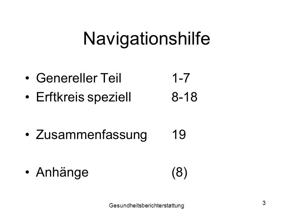 Gesundheitsberichterstattung 14 VIII: Versorgungsstruktur Pflege Ausbau komplementärer Bereich Planungen für Altenheime zuende führen max.