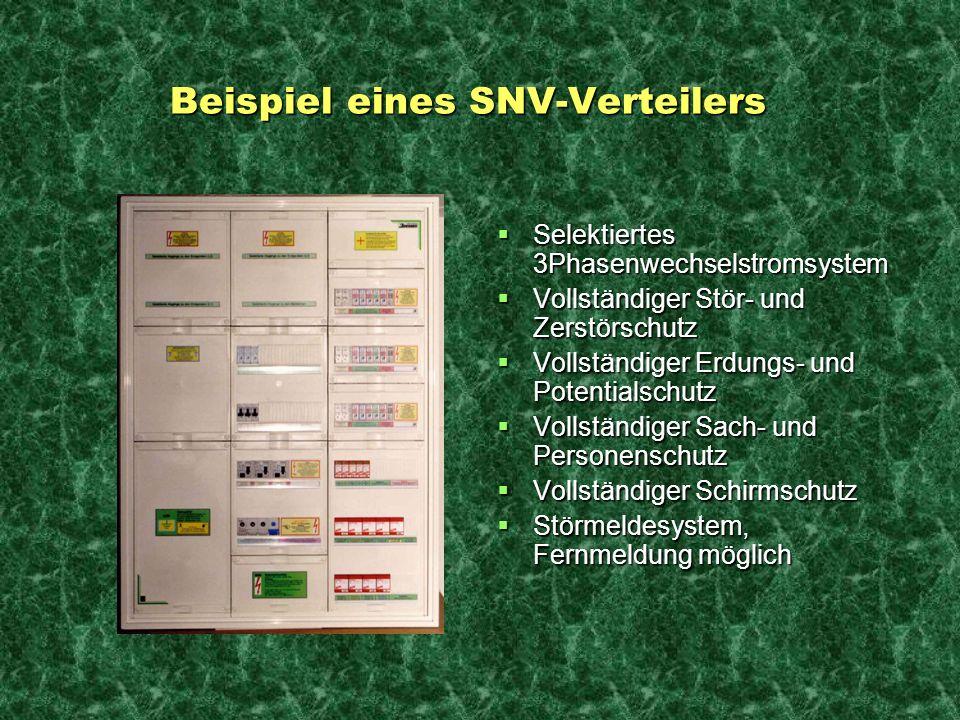 Beispiel eines SNV-Verteilers Beispiel eines SNV-Verteilers Selektiertes 3Phasenwechselstromsystem Selektiertes 3Phasenwechselstromsystem Vollständige
