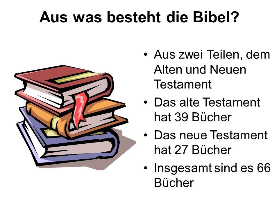 Aus was besteht die Bibel.