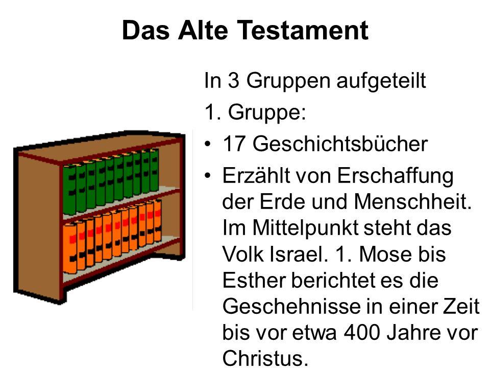 Das Alte Testament In 3 Gruppen aufgeteilt 1.