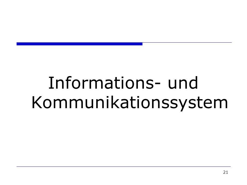21 Informations- und Kommunikationssystem