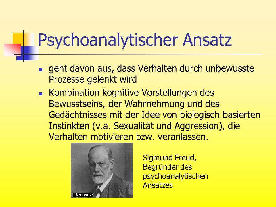 Psychoanalytischer Ansatz geht davon aus, dass Verhalten durch unbewusste Prozesse gelenkt wird Kombination kognitive Vorstellungen des Bewusstseins,
