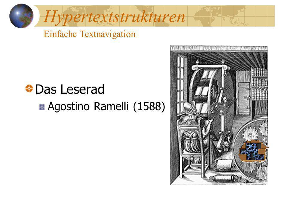 Hypertextstrukturen Einfache Textnavigation Das Leserad Agostino Ramelli (1588)