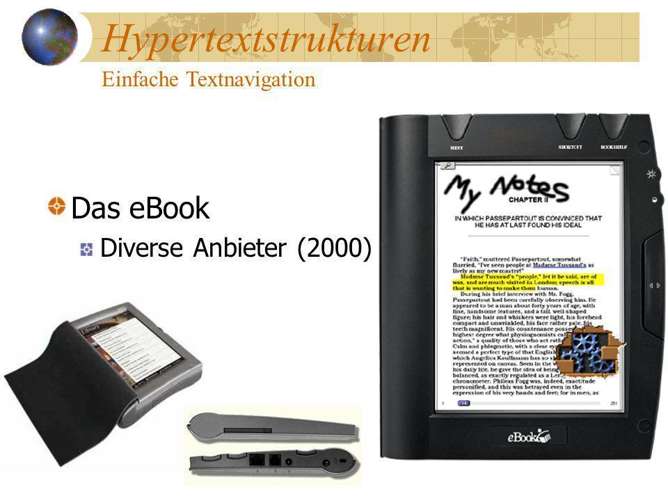 Hypertextstrukturen Einfache Textnavigation Das eBook Diverse Anbieter (2000)