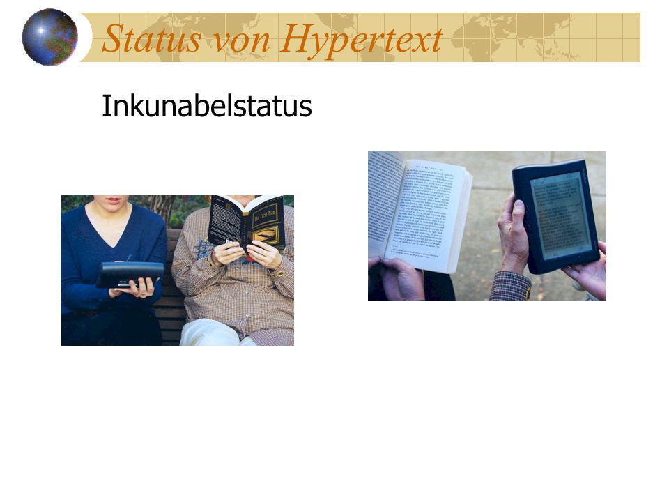 Status von Hypertext Inkunabelstatus