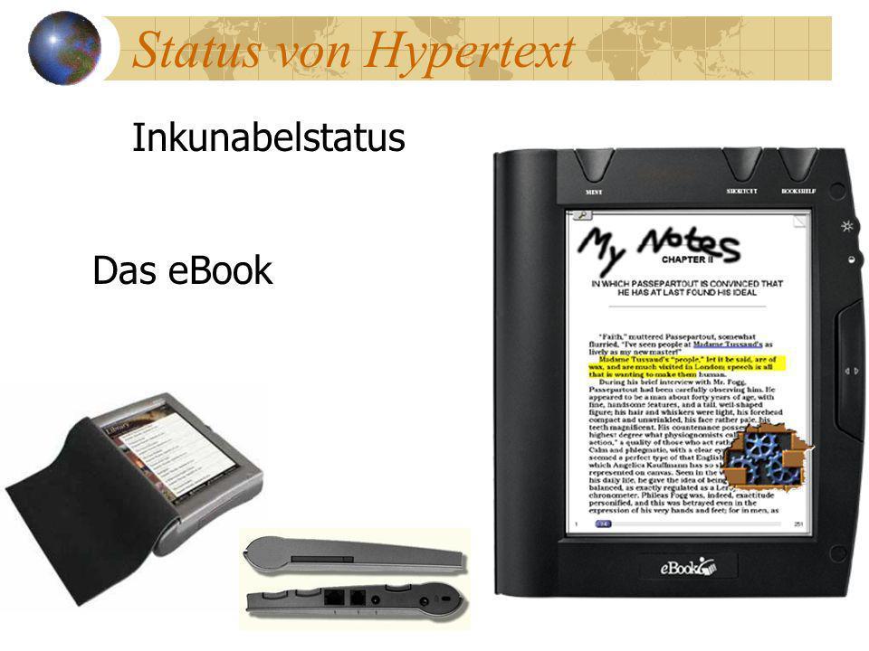Status von Hypertext Inkunabelstatus Das eBook