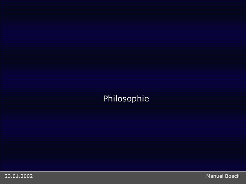 Teile Stefan Scherbaum: Mapa > Implementierung/Architektur23.01.2002 Philosophie Manuel Boeck23.01.2002