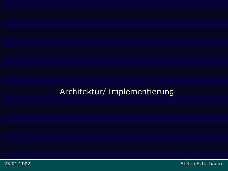 Prinzipien Stefan Scherbaum: Mapa > Implementierung/Architektur23.01.2002 Architektur/ Implementierung Stefan Scherbaum23.01.2002