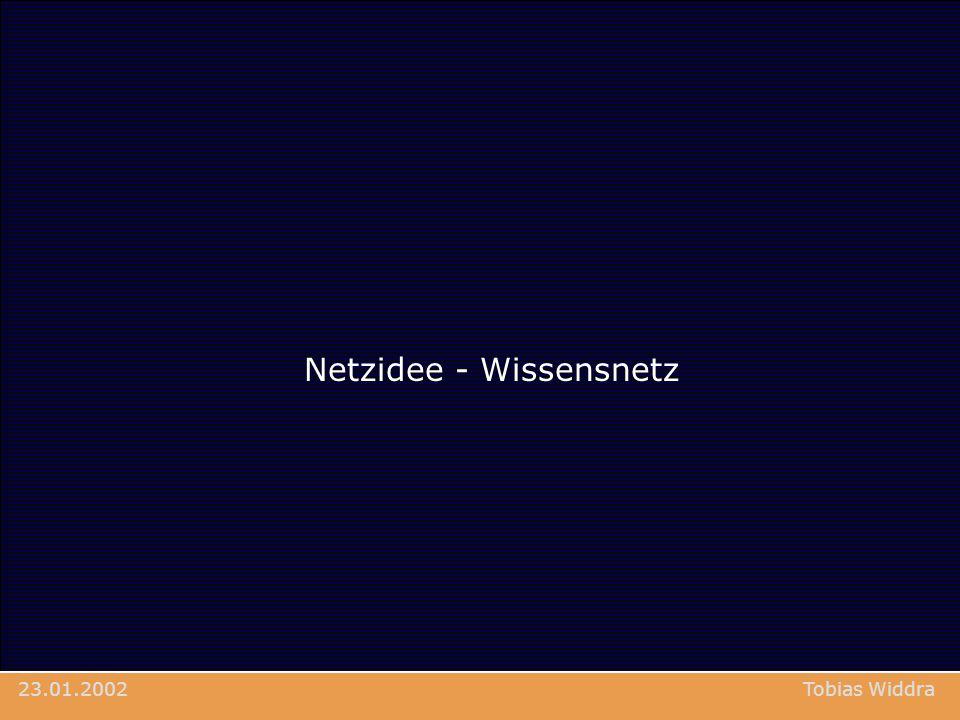 Netzidee - Wissensnetz Tobias Widdra23.01.2002