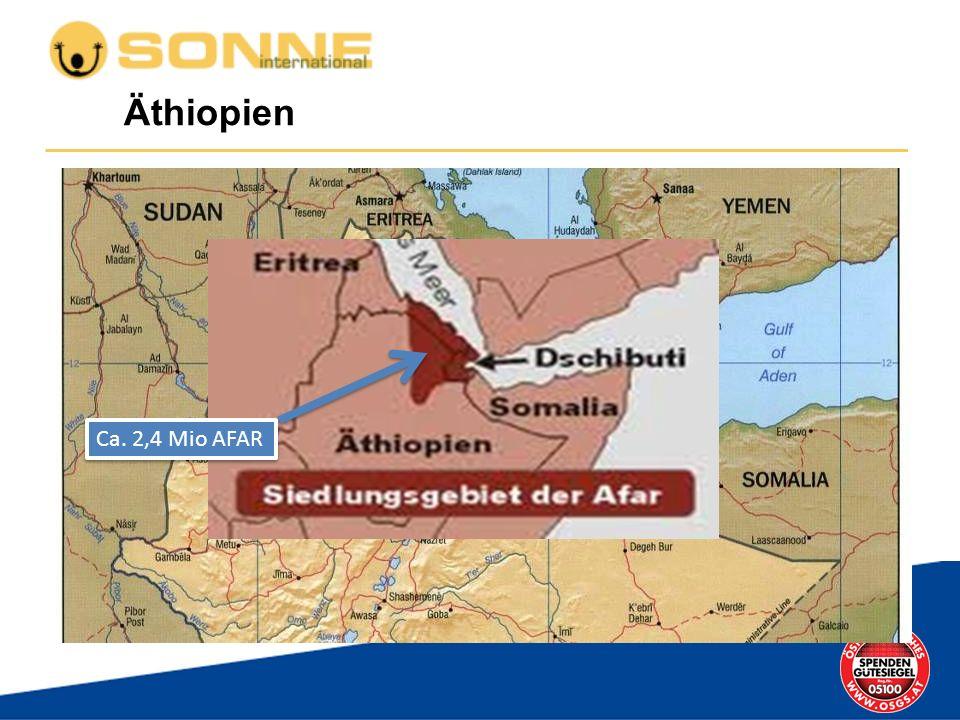 Äthiopien Ca. 2,4 Mio AFAR