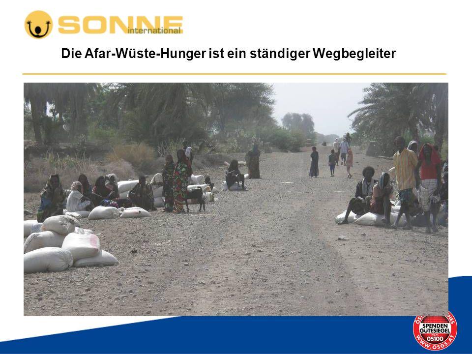 Die Afar-Wüste-Hunger ist ein ständiger Wegbegleiter