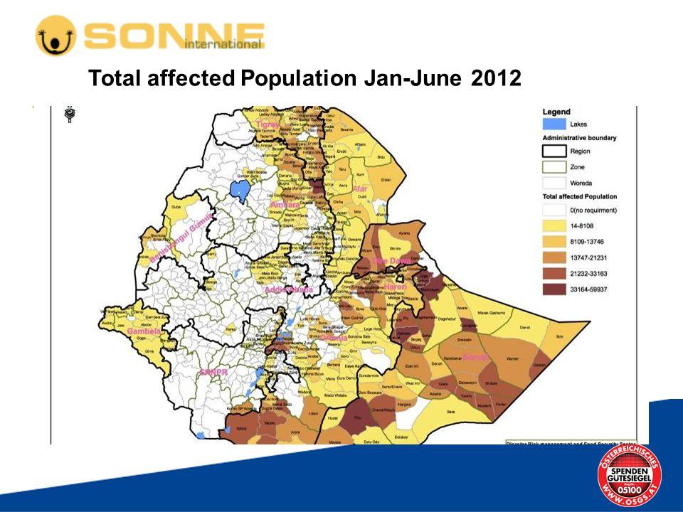 Total affected Population Jan-June 2012